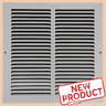 "12x12"" Air Return Vent Cover Duct Size Grille Steel Wall Sidewall Ceiling White"