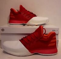 Adidas Harden Volume 1 Basketball Shoe 2017 DAME NEW DS BW0547 RED WHITE NEW 11