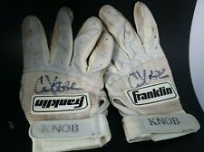 Chuck Knobluach game used signed Minnesota Twins batting gloves MLB worn