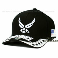 U.S. AIR FORCE Hat USAF Military Official Licensed Embroidery Baseball Cap-Black