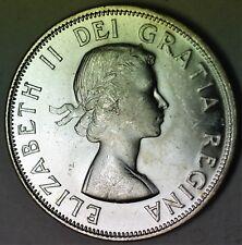 1955 Canada 50 Cents Silver Half Dollar BU Queen Elizabeth II Coin