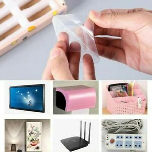 Pufai Smart Hook Double Sided Adhesive Wall Hooks 40 Set 80 Pieces