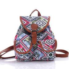 Damen Segeltuch Tasche Reisetasche Rucksack Canvas Schultertasche DE