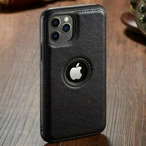 For iPhone 12 11 13 Pro Max  XR XS  8 7 Plus SLIM Luxury Leather Thin Case Cover