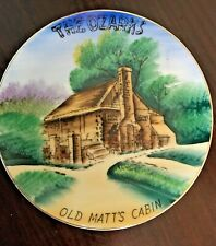 The Ozarks Old Matt's Cabin Collectible Souvenir Hanging Wall Plate Made - Vcago