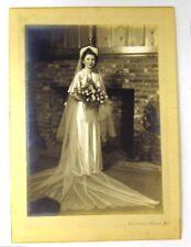 Harris & Ewing BRIDE Bridal Wedding Portrait Photo Mounted Vintage B&W