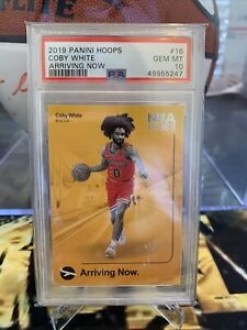 2019 Panini Hoops #16 COBY WHITE Arriving Now RC Rookie PSA 10