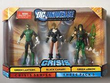 "DC Universe 4"" Figure 3 Pack GREEN LANTERN BLACK CANARY GREEN ARROW DCU Crisis"