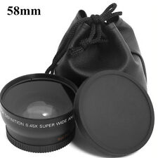 Fashionable 0.45X 58mm Auto Focus Wide Angle Lens For Canon 550D 400D 450D 500D