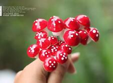 10 Red Mushroom figure fairy garden miniature mini Terrarium Succulent Decor
