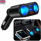 12v Car Cigarette Lighter Adapter Charger 2 Way Dual Plug Socket Splitter New