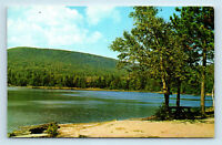 Catskill Mountains, NY - CAMPSITE AT NORTH LAKE - VINTAGE ROADSIDE POSTCARD