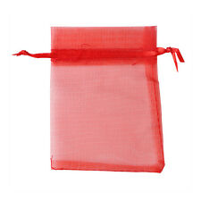 100Pcs Organza Premium Wedding Favour Pouches Sugar Jewellery Gift  Bag Two Size