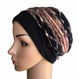 HEADWEAR FOR HAIR LOSS, STYLISH RUCH HAT CANCER CHEMO ALOPECIA HAIR LOSS