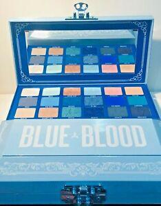 JEFFREE STAR COSMETICS EYESHADOW PALETTE BLUE BLOOD WITH BOX 100% ORIGINAL