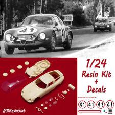 1/24 Alfa Romeo Giulia TZ Le Mans '64 resin body kit Slot Car + Decals