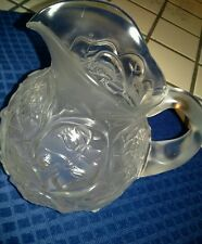"""Fenton  Glass Water Lily Pitcher 7"""""""