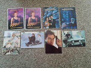 8 James Bond 007 Film Postcards