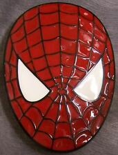 Pewter Belt Buckle Cartoon Superhero Spiderman Mask NEW
