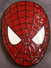 Pewter Belt Buckle Cartoon Superhero Spiderman Mask NEW