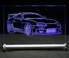 Toyota Supra MK4 als AutoGravur auf LED Schild  MK IV