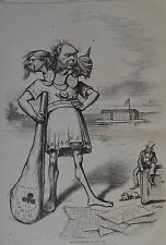 """Thomas Nast. """"The Indifference"""" of Uncle Sam. Harper's Weekly, 1876."""