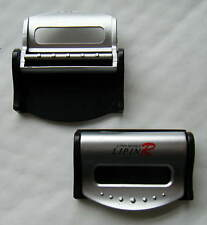 Car Seat Belt Stopper Clips Silver Pair Brand New