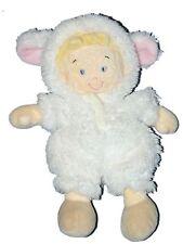 Doudou Garçon déguisé en mouton blanc - NICOTOY - H 25 cm
