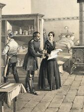 *FLORENCE NIGHTINGALE*ORIGINAL COLOUR TINTED LITHOGRAPH 1856 HOSPITAL AT SCUTARI