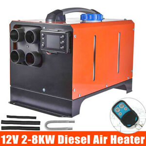 12V 8KW Diesel Night Air Heater LCD Controller Exhaust Motorhome Car Truck Boat