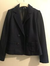 H&M Navy Blue Suit Jacket Size 4 Blazer