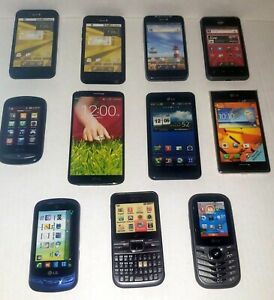 Dummy LG Cell Phone Prop / Display Model Toy Phone Lot Of 11 See Pictures