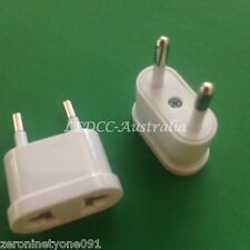 AU AUST NZ US to EU Europe AC Power Travel Plug 10 amp Adapter Converter 1pc