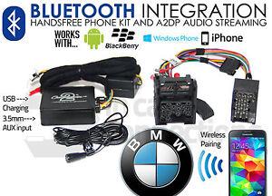 BMW 5 Série Appels Mains Libres Bluetooth Streaming E39 CTABMBT007 Aux MP3