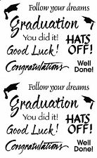Mrs. Grossman's Giant Stickers - Graduation Captions - Congratulations -2 Strips