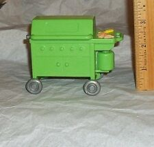 Fisher Price Loving Family Dollhouse Miniature Green Outdoor BBQ Grill On Wheels