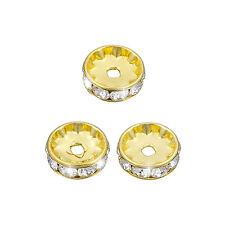 Swarovski washer (10mm) cristal plaqué or f – pack de 3 (M58/15)