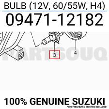 0947112182 Genuine Suzuki BULB (12V, 60/55W, H4) 09471-12182