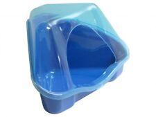 Ecktoilette Nora mit Dach blau für Nager Größe: B 35 x T 24 x H 19 cm