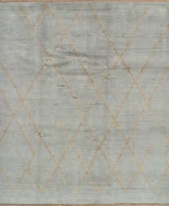 Moroccan Beni Ourain Rug, 8'x10', Grey/Brown, Hand-Knotted Wool Pile