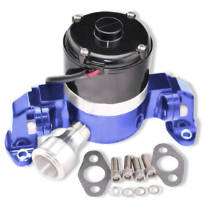 High Flow Electric Aluminum Blue Water Pump for Small Block Chevy Engines 350