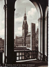 Hamburg, Rathaus, 1963, Ehrenmal, alte Karte, schwarzweiß, sehr gut erhalten