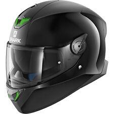 SHARK SKWAL 2 Luces LED Verde Casco De Motocicleta-Negro Doble