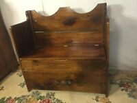 Bench Vintage Pine Lift Seat.VA Local Pick Up.SEE12pics4size&details. MAKE OFFER