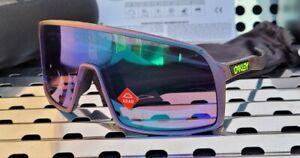 New Oakley SUTRO 9406-5937 Sunglasses Green-Purple Splatter w/ Prizm Road Jade