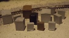 N-scale 12pc. Unfinished Trackside Electrical Box's 1:160 Model Train Detail Acc