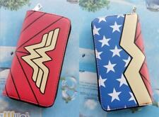 US! DC Movie Wonder Woman Wallet Bi-Fold Red Leather Short Purse Girl Coin Bag