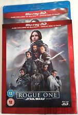 ROGUE ONE: A STAR WARS STORY Brand New 3D + 2D BLU-RAY 2016 Movie w/ SLIPCOVER