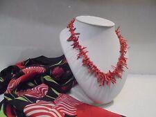 Halskette Fransen wahr rote Koralle - Real CORAL Halskette