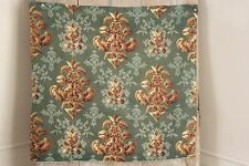 Fabric antique French printed green fabric Art Nouveau 29X31